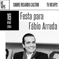 Site RC VIPS - Aniversário de Fábio Arruda