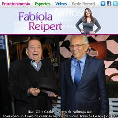 Portal r7 - coluna Entretenimento de Fabíola Reipert - Carlos Alberto de Nóbrega comemora 60 anos de carreira